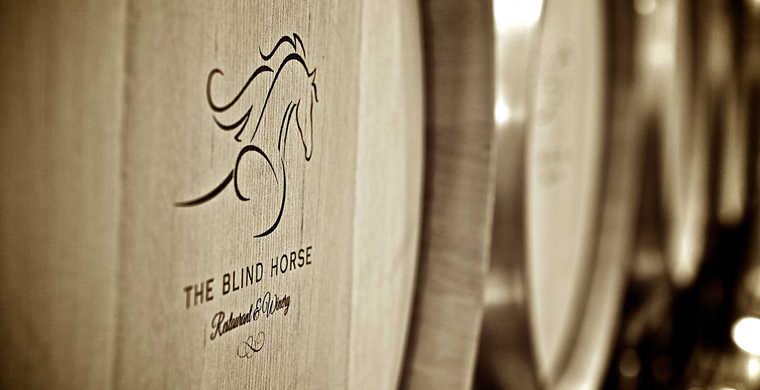 A picture of The Blind Horse wine barrels