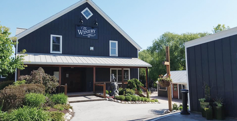 A picture of The Winery entrance